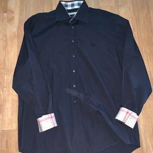 Burberry Brit Men's XL black nova check sleeve